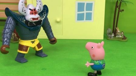 蝎子精想要把小猪家的鸭子偷走,还好被乔治及时发现了