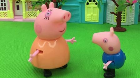 小猪乔治考砸了,为了不让猪妈妈惩罚他,都学会套路猪妈妈了
