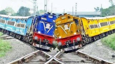 世界最奇葩的铁路,火车开过好像是对撞一样,我连着看了两次!