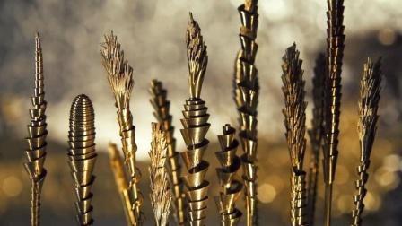 未来动植物为了抵御污染,纷纷将自己机械化,连稻穗都变成了钢铁