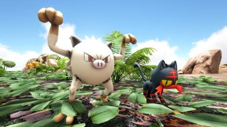 方舟生存进化:精灵宝可梦 37 二代小怪猴这家伙速度惊人