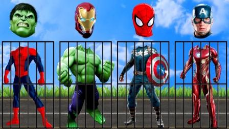 超级英雄动漫:帮超级英雄找到头