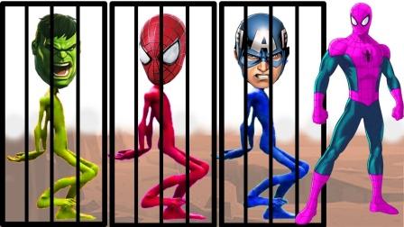 超级英雄动漫:超级英雄被坏蛋吸走了颜色