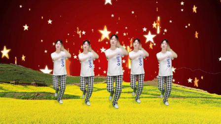 动感经典DJ广场舞《梦中的兰花花》旋律欢快动感,简单又好看
