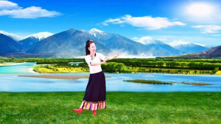 玖月广场舞【在那东山顶上】藏族舞简单易学绕子龙原创编舞