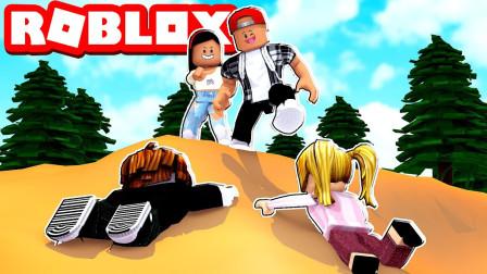 ROBLOX小游戏:宇宙冠军任务沙漠和小伙伴抢可乐!面面解说