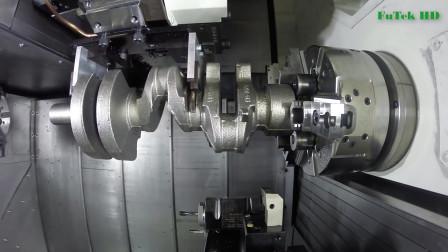 七扭八拐的曲轴是如何加工的?干了十年的老机械工也是第一次见