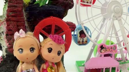 芭比娃娃玩秋千拆奇趣蛋,宝宝早教游戏视频