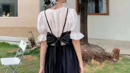 (已抢完)洛七女装2021年韩国连衣裙夏季短袖新款夏款低价批发32.6元超低价