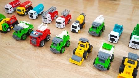 工程车玩具:垃圾车、推土机、铲车、挖掘机,压路机,益智玩具车