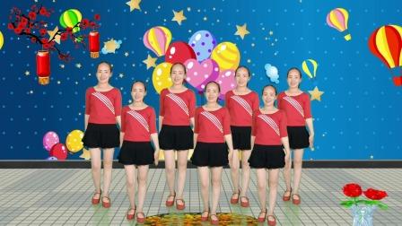 DJ广场舞《山水唱情歌》,优美动听的旋律,简单欢快的舞步