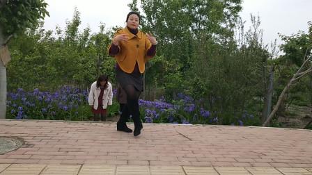 春天美广场舞《一开始说爱我的人过的好吗》外景