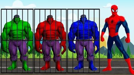 超级英雄动漫:绿巨人被关了起来