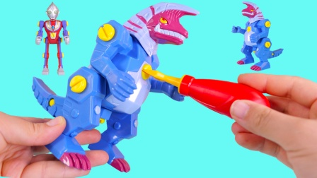奥特英雄超拼装玩具 迪迦奥特曼遇上哥尔赞 谁能取得胜利呢?