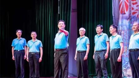 广州上书院室内合唱团男声在文化公园表演唱,演唱的曲目是《少林,少年》,《达坂城的姑娘》。