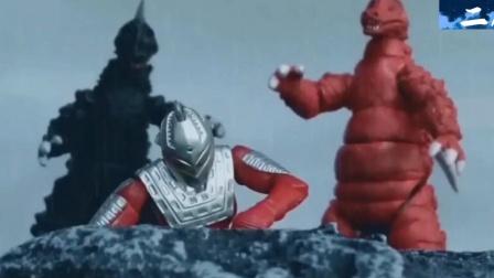 怪兽打断了赛文奥特曼的腿,雷欧来救师父