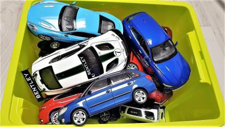 炫彩汽车玩具箱子展示