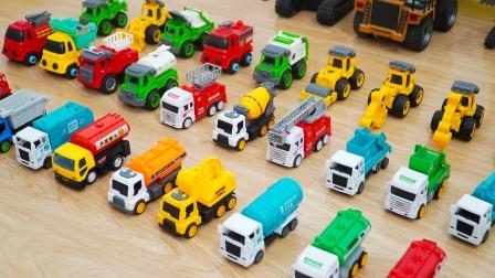 工程车模型:各种油罐车、石油运输车大汇集,儿童益智汽车玩具