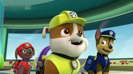 汪汪队:狗狗很想去帮忙,帮忙是次要,主要还是想去玩雪吧!