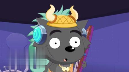喜羊羊:喜羊羊躲避催眠弹,但催眠弹太多了,结果喜羊羊中了招!