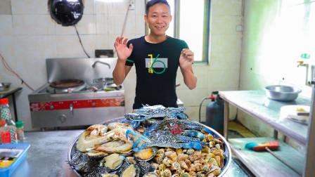 阿壮招待贵宾真豪气!满满一大锅昂贵鲍鱼虾蟹宴,啃到壳都不想吐