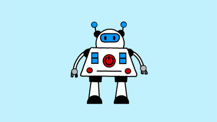 机器人简笔画 - 一步一步教你画
