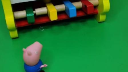 乔治找小朋友玩,乔治叫小朋友起床,小朋友可真能睡!