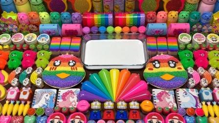 你见过小马宝莉等100多种玩具混泥吗?用无硼砂奶油泥做彩虹小