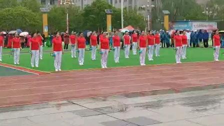 2021.4.23全市门球比赛开幕式,安塞老年文艺协会健身球表演
