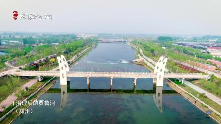 航拍治理后郑州贾鲁河,水变清澈了,河两岸钓鱼的人也多了!