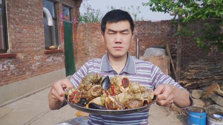 183买了6斤海螺,阿远煮了锅麻辣海螺吃,叫上四叔过来尝尝鲜