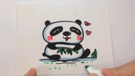 简笔画.大熊猫