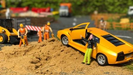 合金卡车运输跑车玩具