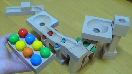 立方体玩具拼搭弹珠跑道