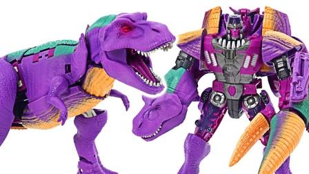 恐龙变形机器人玩具拆盒