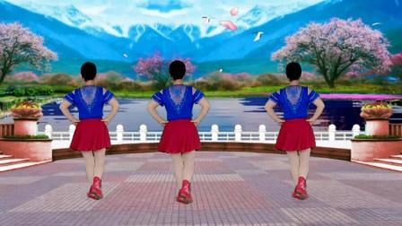 郴州冬菊广场舞【云想衣裳我想你】64步水兵舞背面演示附正面分解