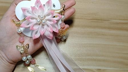 【P324】圆点雪纱带做的古风大飘带