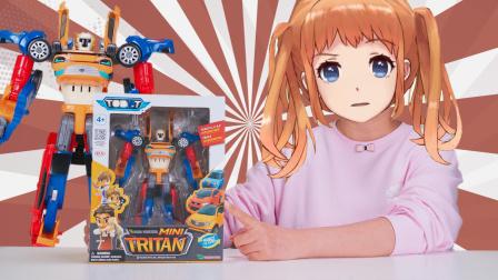 托宝兄弟 三辆小汽车合体变形成超大机器人