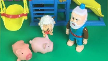 乔治大头和爷爷玩游戏,爷爷好聪明呀!