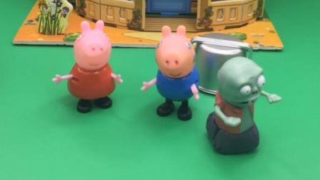 小鬼怎么把佩奇乔治放到桶里了?
