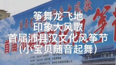 筝舞龙飞地印象大风歌首届沛县汉文化风筝节(小宝贝随音起舞)