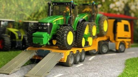 大卡车运输拖拉机玩具