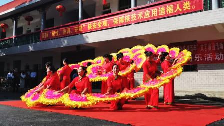"""扇子舞《中国美》,红旗社区""""学党史,唱经典,颂传统,迎百年""""文艺活动,在湘核林语举行"""