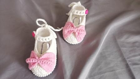 蝴蝶结宝宝鞋教程