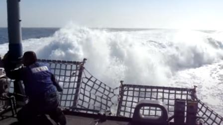 实拍:美军航母超高速航行,叹为观止!