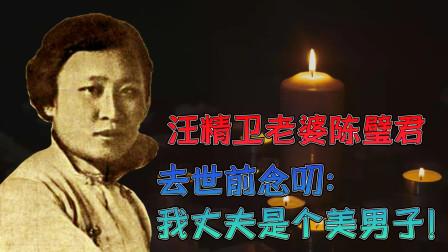 汪精卫老婆陈璧君,拒绝国家特赦,去世前念叨:我丈夫是个美男子