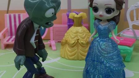 贝尔又来欺负白雪,女巫变成僵尸教训她