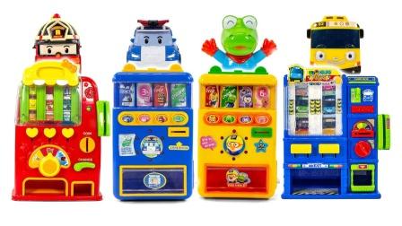 变形警车玩具故事:好有趣!珀利带来的售货机里都有什么呢?