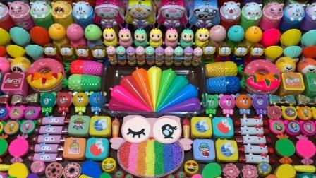 太可爱了!用黏土猫头鹰卡通玩具混泥,100多种材料无硼砂超壮