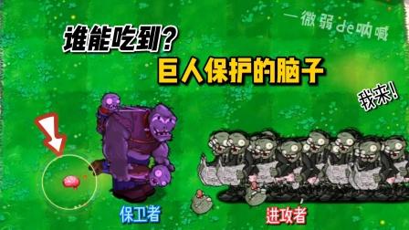植物大战僵尸:巨人保护的脑子,谁能吃到?